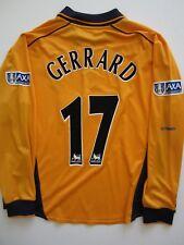 Reebok Liverpool 2001 Carling Cup Final Player Issue Jersey 8 Steven Gerrard