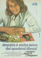X4681 Simpatia, i quaderni Auguri di Mondadori - Pubblicità 1975 - Advertising