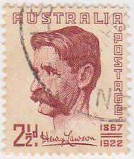 (PDX410) 1948 AU 2½d HENRY LAWSON (I)