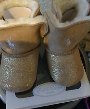 Ralph Lauren, Baby Uggs 3-6 months soft sole sparkle RRP £65 BNIB