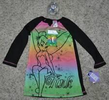 NWT $35-Girls 3 Pc Disney Fairy TinkerBell Nightgown Pajamas, Watch & Purse- 4/6