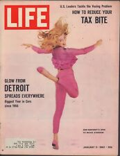 LIFE January 11,1963 Ann-Margret / Auto Industry / Lasers / Stunt Driving