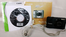 ⚫ Canon PowerShot A1200 12.1 MP Digital Camera - Black ⚫ 4 GB Memory Card, Box ⚫