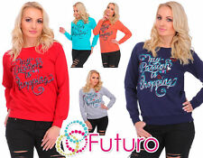Women's Cotton Long Sleeve Crew Neck Hip Length Jumpers & Cardigans