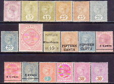 1886-93 CEYLON SG 195-201 + 233-47a MH selection of 18 different CV £199