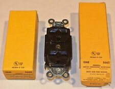 2 HUBBELL DUPLEX MODEL 5662 GROUNDING RECEPTACLES 3-WIRE POLARIZED FREE SHIPPING