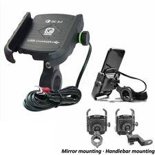 Durable Phone Holder USB Charger For Harley Davidson Street Glide Touring FLH