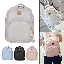 Womens PU Leather School Braided Backpack Travel Shoulder Bag Rucksack