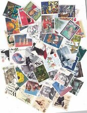 GREAT BRITAIN APPX 250 DIFFERENT USED STAMPS OFF PAPER....