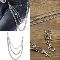 Men's 3 Layers Bicycle Jean Wallet Chains Keychain For Motorcycle Biker Trucker