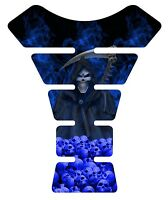 Grim Reaper Rising Blue Motorcycle Gel Gas Tankpad Tank Pad Protector guard