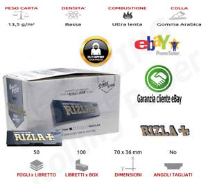 Kit 5000 Cartine RIZLA Silver Grigio Argento Corte SUPER THIN 100 libretti