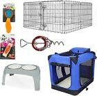 Pet Starter Kit, Pet Playpen + Folding Soft Crate, Kit for Medium and Large Dogs