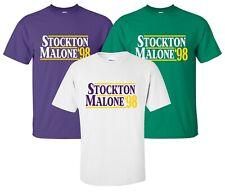 """Stockton Malone '98"" T-Shirt election utah jazz salt lake city john karl gift"