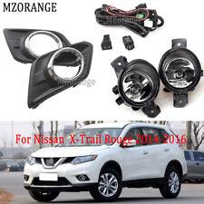 Fog Lights Cover w/Bezel w/Switch Kit for Nissan X-trail Rouge 2014-2016 w/Bulbs