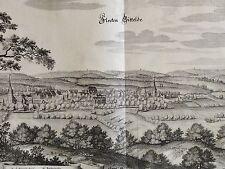 MERIAN - orig. Kupferstich 1654: Flecken GITTELDE Gem. Bad Grund / Harz