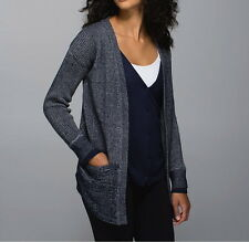 LULULEMON VESTIGAN CARDIGAN W VEST HEATHERED INKWELL SZ 6 SOLD OUT NEW FAST SHIP