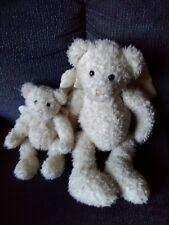 """( 2 ) Gund Crystal Teddy Bear (s) Angel (s) Wings * Two Too Cute * 18"""" & 10"""""""