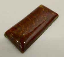 Malibu Vintage Pillow Tile Mottled Reddish Brown Glaze California