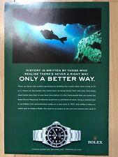 Rolex Sea-Dweller 16600 2003 Advertisement Pub Ad Werbung