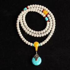 Tibetan Buddha  Meditation Prayer 108 Bead Mala Flex  Bracelet Necklace  +Pouch