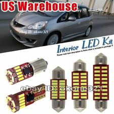 10-pc Pure White LED Lights Interior Package inside Kit Fit 09-14 Honda Fit Jazz