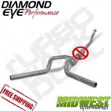 "Diamond Eye 4"" Dual Turbo Back No Muffler Fits 1994-2002 Dodge 5.9L 2500 3500"