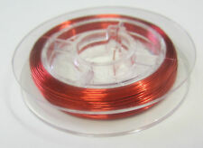 10 Metres Red Wire 28 Gauge For Beading, Scrapbooking, Craft, Jewellery Making