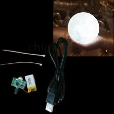 3D Printing Moon Lamp Lunar Night Light  Circuit Touch Switch USB Charging white