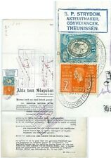 """SOUTH AFRICA - 1939 """"POWER OF ATTORNEY"""" document with scarce 1931 15/- (ME254)**"""