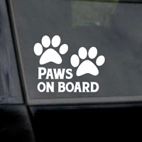 "6"" Paws On Board-Dog Lover-Pitbull- Vinyl Window Car Laptop Yeti Decal"