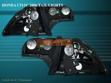 06 07 08 HONDA CIVIC 4D SEDAN LED TAIL LIGHTS BLACK 4DR
