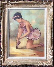 R .PENDARIES 1929- Ballerine se chaussant pour Danse HST33,5x25,5 Etat parfait