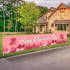 New listing Valentines Day Banner Happy Valentine's Day Decorations Flag Hanging Huge Sign