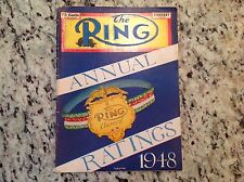 Feb 1949 The Ring boxing magazine Annual Ratings 1948 Graziano Louis LaMotta