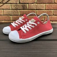 JACK WILLS Unisex Red Canvas Trainers Shoes - Size 6 UK *BRAND NEW*