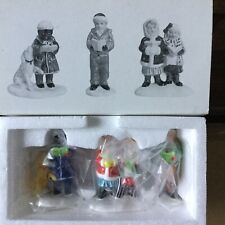Dept 56 Snow Village® Here We Come A'Caroling Set Of 3 - Brand New - In Plastic
