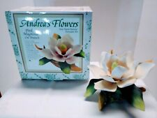 Andrea by Sadek Pink Magnolia Hand Painted Porcelain Flower - New In Box