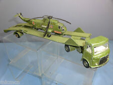 """DINKY TOYS MODEL No 618 AEC ARTIC TRANSPORTER WITH SEA KING HELICOPTER """"SPARES"""""""