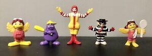 Vintage 1997 McDonald's Toy Figures x 3 - plus Sporty Grimace & Birdie