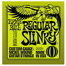 Ernie Ball 2221 Regular Slinky 10 46 Muta Corde Per Chitarra Elettrica Completa