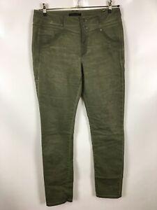 DREAMSTAR Damen Hose, Größe 42, khaki, schlicht, Jeans, stretch