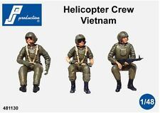1/48 Pj Production Helicopter Crew Seated In A/C (Vietnam War)