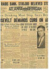 Crime Original Newspaper May 18 1934 Dillinger Raids Bank 2802017PS