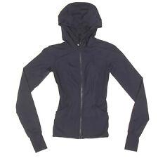 LULULEMON Dark Blue Hooded Zip Studio Dance Jacket Women's size 2 - INV3359