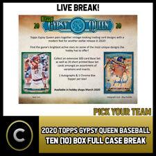 2020 TOPPS GYPSY QUEEN BASEBALL 10 BOX (FULL CASE) BREAK #A755 - PICK YOUR TEAM