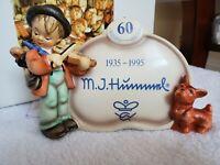 Goebel Hummel Puppy Love #767 Display Plaque w/Box TMK-7 - 60th Anniversary