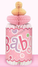 Baby Shower Party Giant Bottle Honeycomb Centrepiece Table Decorations Pink Girl