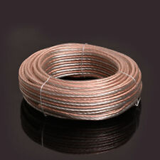50ft 16 GA AWG Full Gauge Parallel Speaker Wire Cable OFC Oxygen Free Copper
