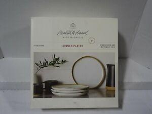 *NEW* Hearth & Hand With Magnolia Stoneware Plates Reactive Glaze Exposed Rim